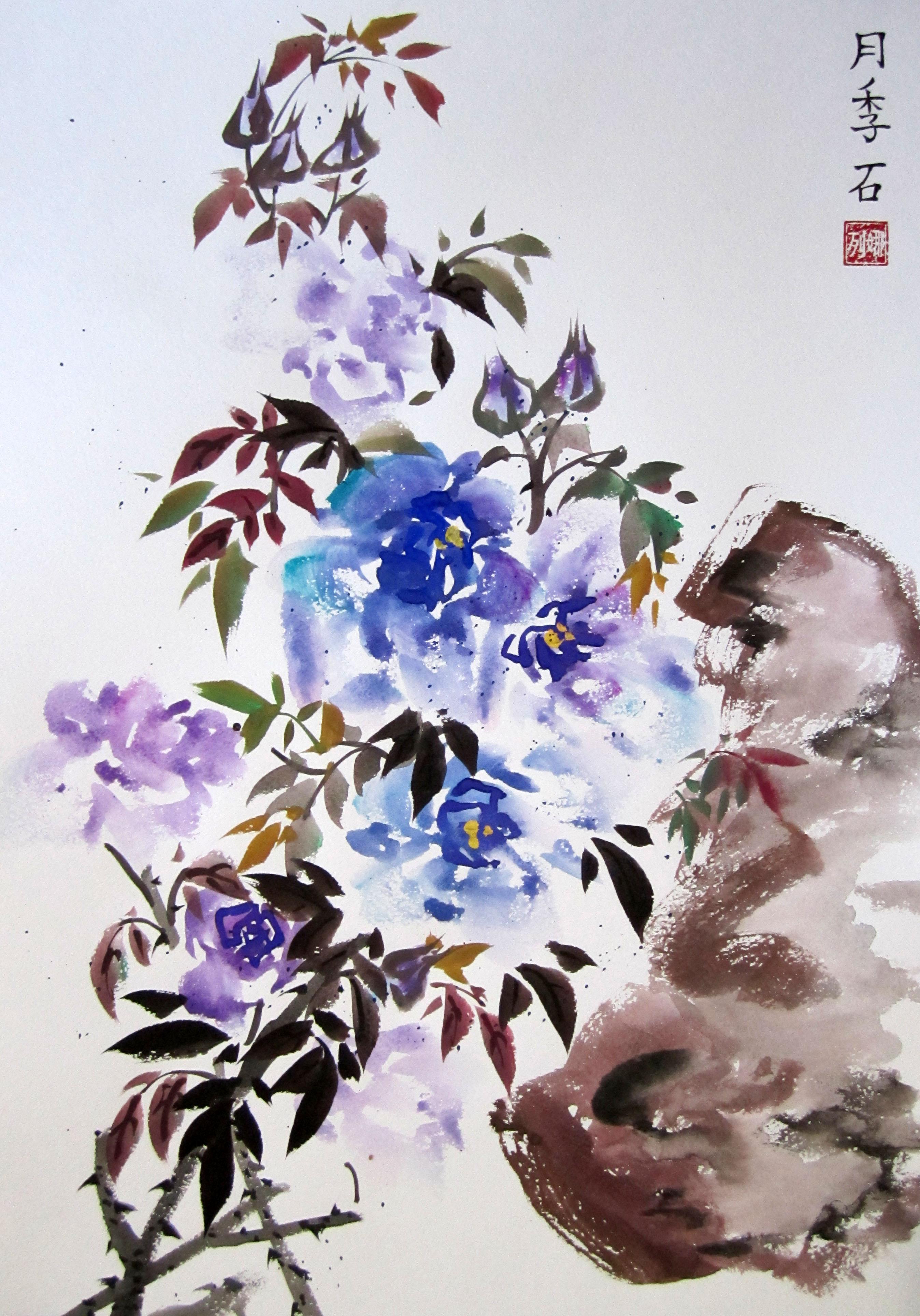 Как сделать китайские цветы 302
