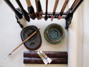 4 благородных, бамбук, бамбук на ветру, Го Хуа, гохуа, Елена Касьяненко, китайская живопись, орхидея, хризантема