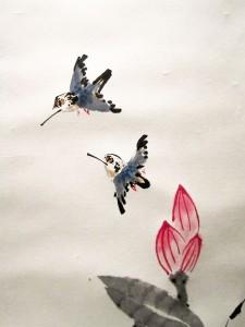 Го Хуа, гохуа, Елена Касьяненко, живопись У-син, зимородки, картины на заказ, китайская живопись, Лотосы, свиток, У-син, утки, цветы и птицы