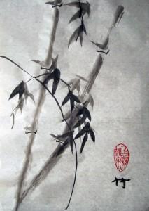 4 благородных, бамбук, Го Хуа, Елена Касьяненко, Инга Проценко, китайская живопись