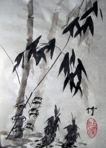 4 благородных, бамбук, Го Хуа, Елена Касьяненко, китайская живопись, Ольга Хорчева