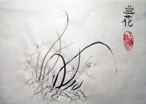 4 благородных, Александра Крыжановская, Го Хуа, гохуа, Елена Касьяненко, живопись У-син, китайская живопись, Ольга Хорчева, орхидея, У-син