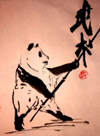 панды, панда, китайская живопись, у-син, живопись у-син