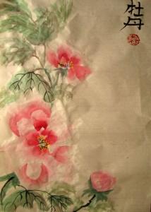 Елена Касьяненко, китайская живопись, го-хуа, гохуа, пион, Елена Григорьева, Ольга Хорчева, Ирина Завалий