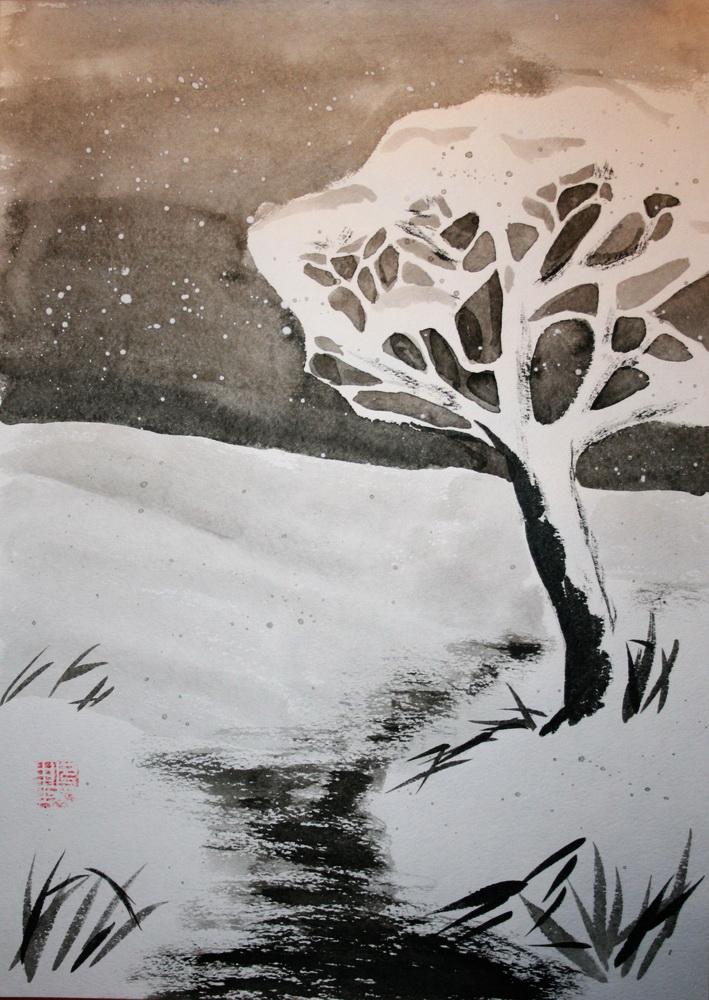знакомство с пейзажной живописью курочкина