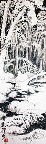 живопись, живопись У-син, китайская живопись, мастер-класс, Новый год, открытки, У-син, школа живописи У-син, Щербаков Андрей