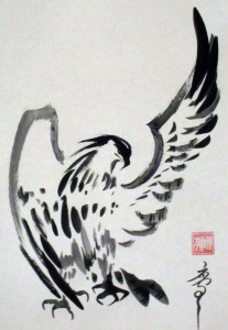 Елена Касьяненко, орлы, китайская живопись, живопись У-Син, традиционные китайские сюжеты