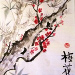 го-хуа, китайская живопись, три друга зимы, хризантемы, бамбук, сосна, цветущая слива