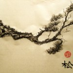 ветка сосны, го-хуа, китайская живопись, Го Хуа, сосна