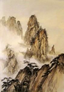 Ли Илиан, китайская живопись, гохуа, го-хуа, Елена Касьяненко, горы-воды, пейзажи