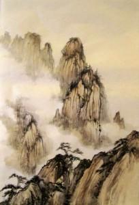 Ли Илиан, китайская живопись, гохуа, го-хуа,горы-воды, пейзажи,
