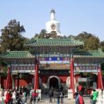 парк Бэйхай, Пекин, деревья, природа, пагоды