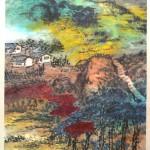 Zhu Qizhan, китайская живопись, гохуа, го-хуа, пейзажи, горы-воды, фрукты, цветы, выставка картин, Пекин, Art Museum of Beijing Fine Art Academy