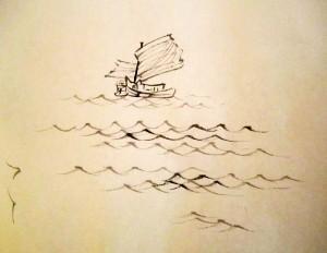 китайская живопись, го-хуа, гохуа, Ли Илиан, горы-воды, пейзажи, Елена Касьяненко