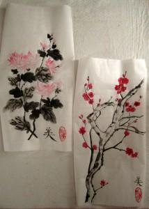 гохуа, го-хуа, китайская живопись, традиционная китайская живопись, Елена Касьяненко, цветущая слива, мэй хуа, хризантема
