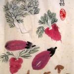 китайская живопись, овощи, го-хуа, гохуа, мастер-класс, работы учеников