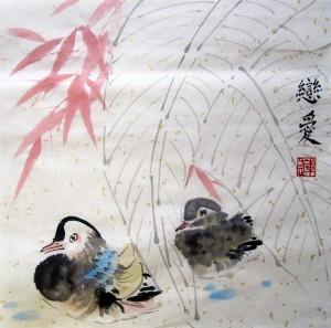 Елена Касьяненко, китайская живопись, го-хуа, гохуа, се-и, обучение китайской живописи, цветы и птицы