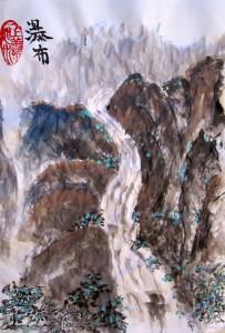 Елена Касьяненко, китайская живопись, горы-воды, го-хуа, гохуа, пейзажи, водопады, Людмила Данилина, Людмила Чистикина, Ирина Хохлова, Ирина Шушкина, Ольга Морозова