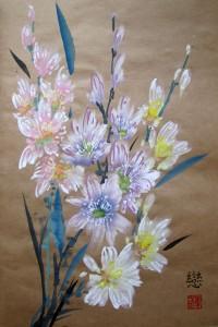 мастер-класс, Елена Касьяненко, цветы, живопись У-Син, китайская живопись