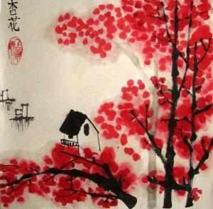 Елена Касьяненко, мастер-класс по китайской живописи, китайская живопись, гохуа, го-хуа, цветущий абрикос, се-и, пейзажи