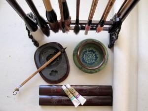 Елена Касьяненко, китайская живопись, го-хуа, гохуа, обучение китайской живописи, се-и, четыре благородных, бамбук, цветущая слива, хризантема, орхидея, лотос, сосна, пион