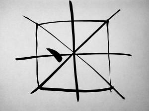 Огонь, китайская живопись У-син, китайская каллиграфия