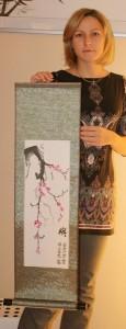 бонсай, живопись, живопись У-син, Кинева Ольга, китайская живопись, мастер-класс, московская школа живописи У-син, Новый год, У-син, Щербаков Андрей