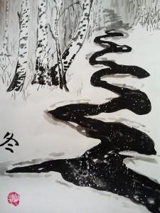 живопись У-син, вторая ступень, школа живописи у-син, китайская живопись