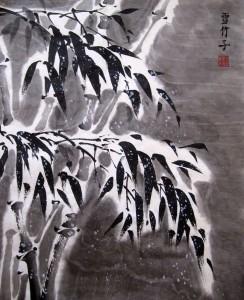 Елена Касьяненко, китайская живопись, гохуа, мастер-класс, бамбук под снегом, обучение рисованию
