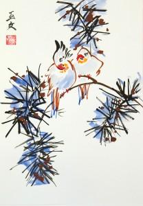 живопись У-син, вторая ступень, школа живописи у-син, китайская живопись, Юлия Зима
