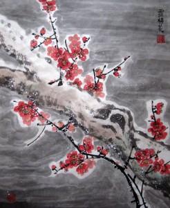 Елена Касьяненко, мастер-класс, гохуа, китайская живопись, цветущая слива, обучение рисованию, мэй хуа