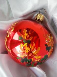 елочные шары, елочная игрушка,мастер-класс, живопись У-син, новый год, подарки, китайская живлпись, Юлия Зима