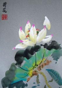 Елена Касьяненко, живопись У-Син, китайская живопись, лотосы, мастер-класс, Лотосы, обучение рисованию