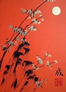 Елена Касьяненко, живопись У-Син, китайская живопись, мастер-класс, обучение рисованию, открытки