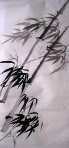 Елена Касьяненко, китайская живопись, обучение китайской живописи, Школа живописи У-Син, се-и, гунби, гун-би, бамбук на ветру