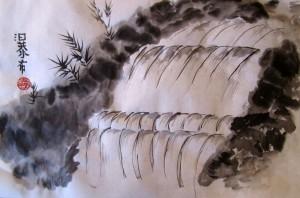 Елена Касьяненко, гохуа, горы-воды, китайская живопись, обучение рисованию, водопады, Школа живописи У-Син
