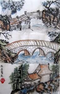 Елена Касьяненко, гохуа, китайская живопись, пейзажи, горы-воды, Школа живописи У-Син, обучение рисованию