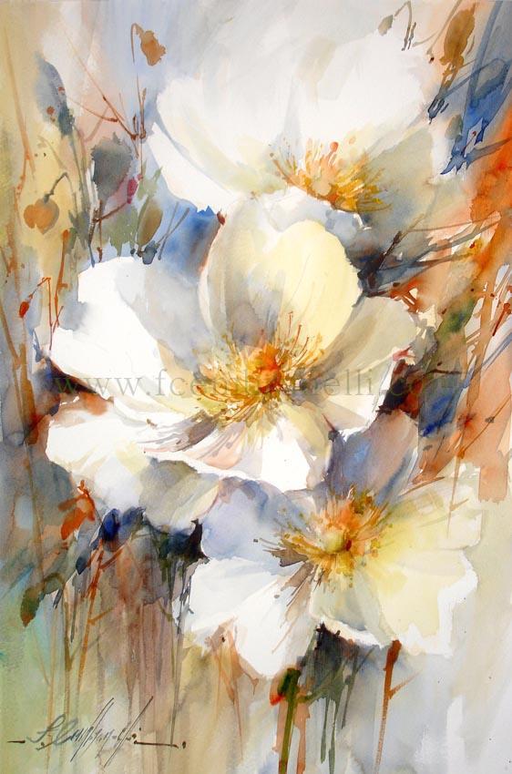 Цветы акварель мастер класс
