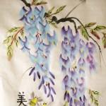 Елена Касьяненко, обучение рисованию, китайская живопись, гохуа, цветы и птицы, глициния, обучение китайской живописи