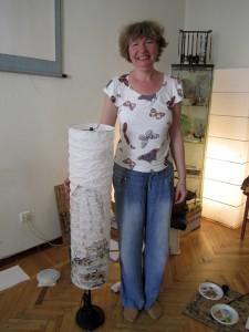Елена Касьяненко, мастер-класс, роспись бумажного светильника, обучение рисованию, китайская живопись