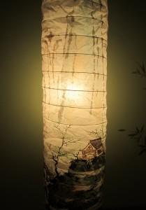 Елена Касьяненко, роспись бумажных светильников, обучение рисованию, мастер-класс, китайский пейзаж