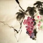 Елена Касьяненко, обучение рисованию, китайская живопись, гохуа, цветы и птицы, виноград, обучение китайской живописи