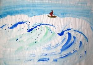 Елена Касьяненко, живопись У-Син, акварель, мастер-класс, морской пейзаж, обучение рисованию