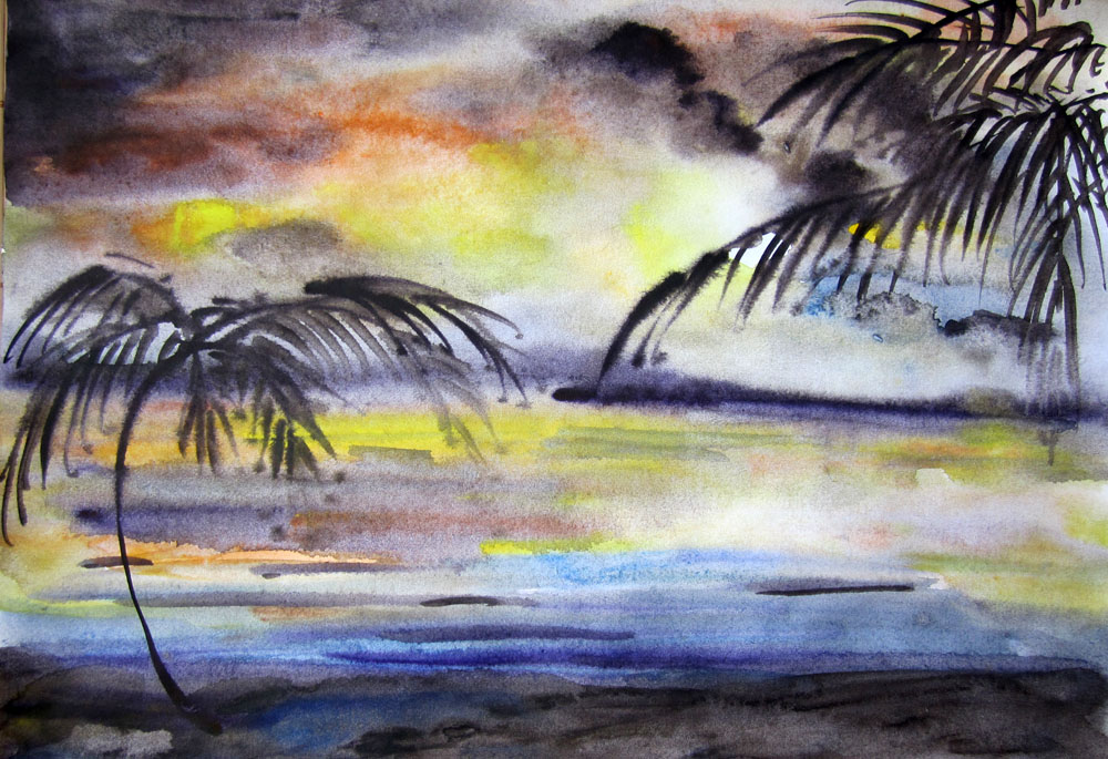 Мастер класс как нарисовать небо