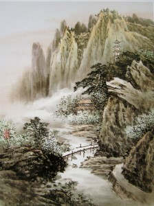 Горный пейзаж. Китайская живопись