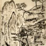 мастер-класс, китайский пейзаж, китайские горы, Елена Касьяненко, обучение рисованию, китайская живопись, гохуа