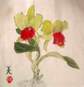 Орхидея. Китайская живопись