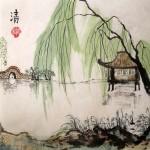 мастер-класс, китайский пейзаж, китайский сад, Елена Касьяненко, обучение рисованию, китайская живопись, гохуа
