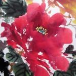"""Свиток """"Роскошный пион"""", фрагмент. Елена Касьяненко, китайская живопись"""