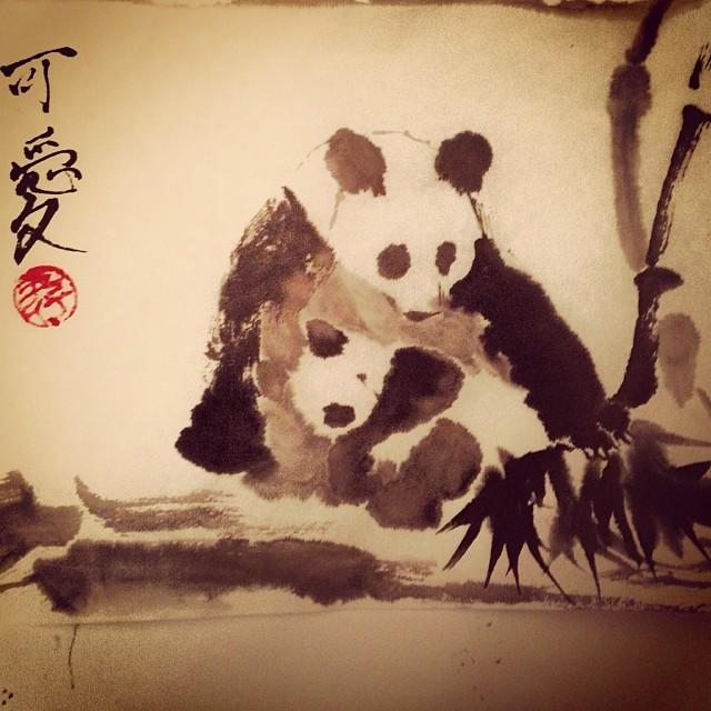 китайская живопись у-син панда